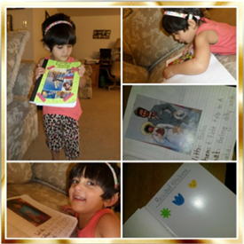 Zaman with her journal