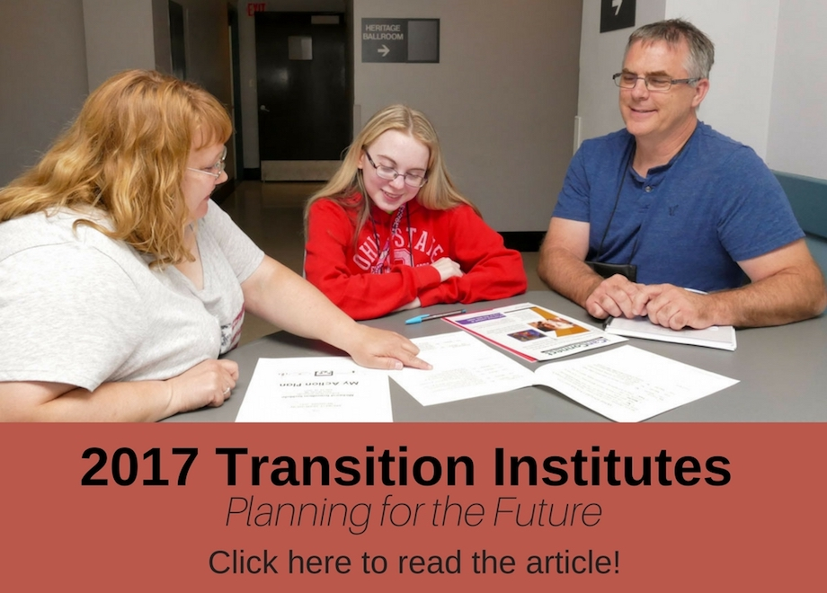 2017 Transition Institutes: Planning for the Future
