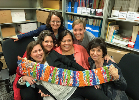 Family Engagement Coordinators with scarf