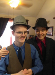 Jake as a teenager dressed up nicely with brother Connor