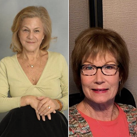 Picture collage: Left, Clara Berg, NFADB - Past President. Right, Patti McGowan, NFADB - President Elect.