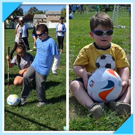 The boys on the soccer field
