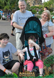 Tori and her family at Animal Kingdom