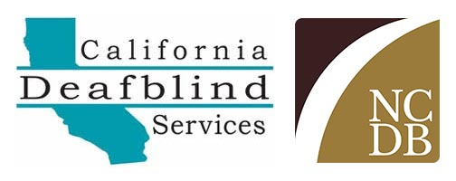 Logos: California Deafblind Services, National Center on Deaf-Blindness