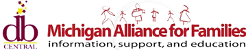 DB Central logo and Michigan Alliance for Families logo