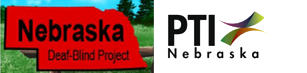 Nebraska Deaf-Blind Project logo and PTI Nebraska logo
