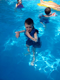 Ryan in the pool