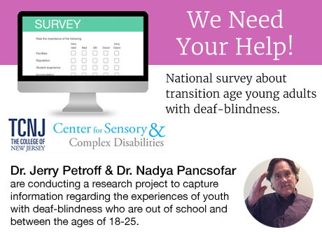 National Survey to Collect Information About Transition Age Young Adults with Deaf-Blindness