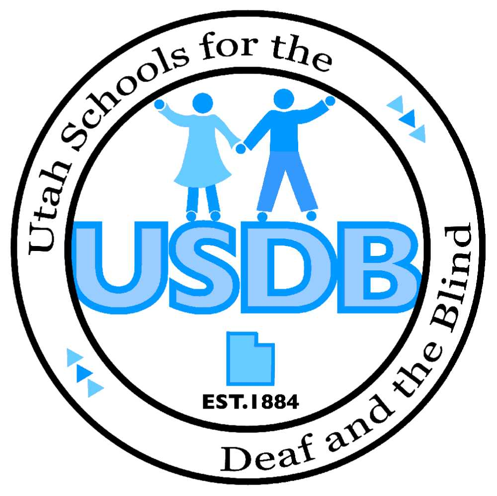 Utah Schools for the Deaf and the Blind logo.