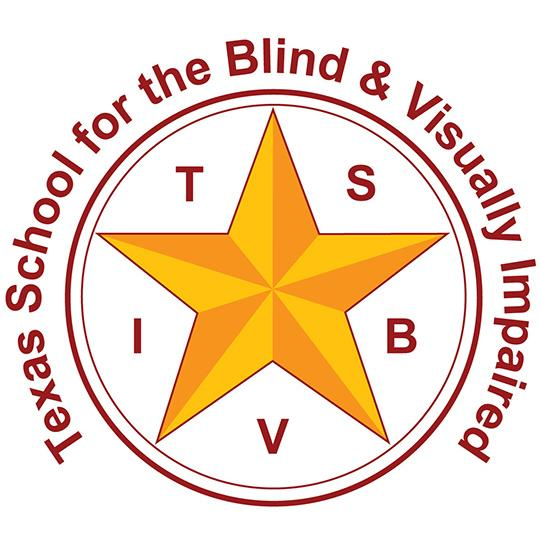 Texas School for the Blind logo.