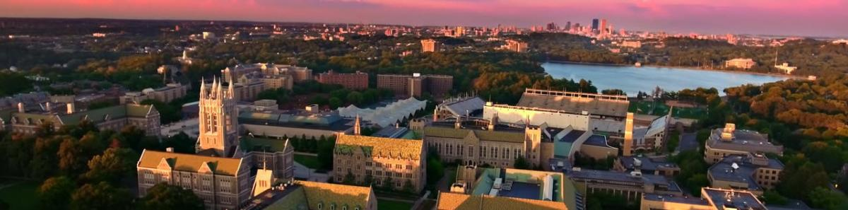 Boston College at sunset